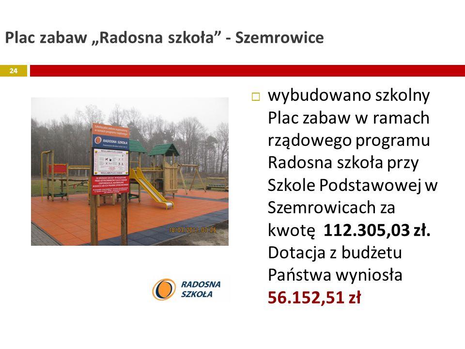 """Plac zabaw """"Radosna szkoła - Szemrowice"""