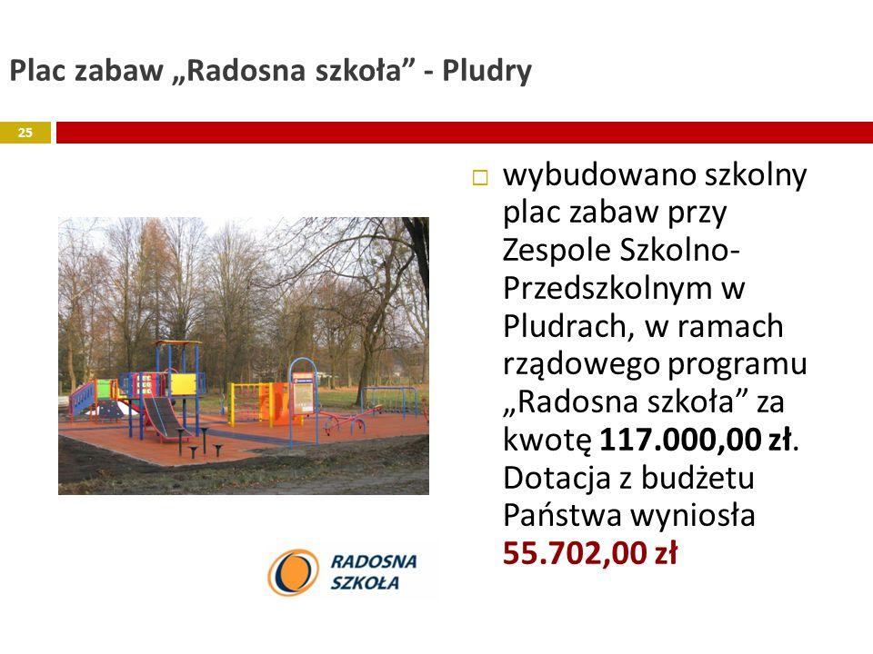 """Plac zabaw """"Radosna szkoła - Pludry"""