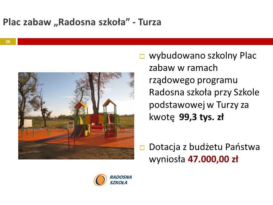 """Plac zabaw """"Radosna szkoła - Turza"""