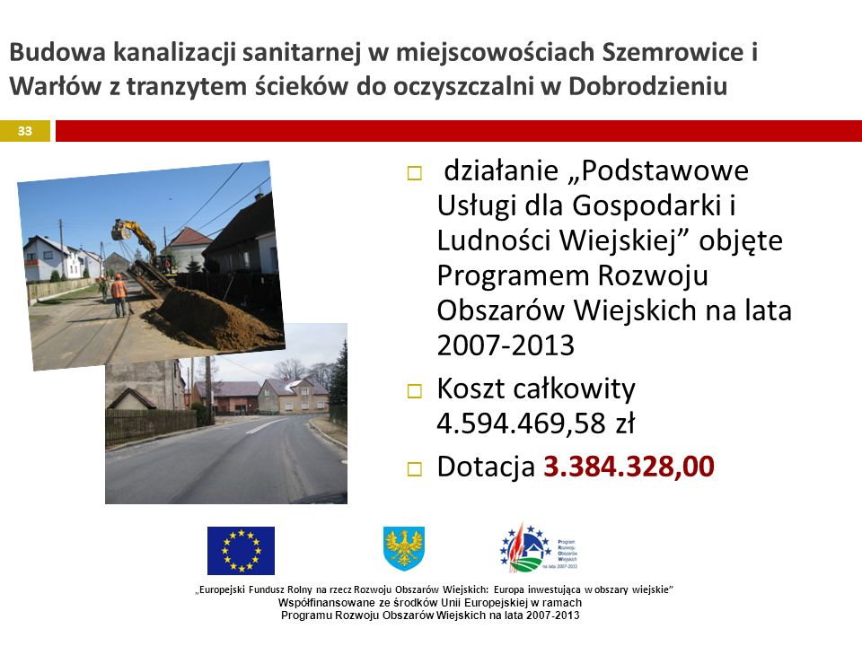 Programu Rozwoju Obszarów Wiejskich na lata 2007-2013