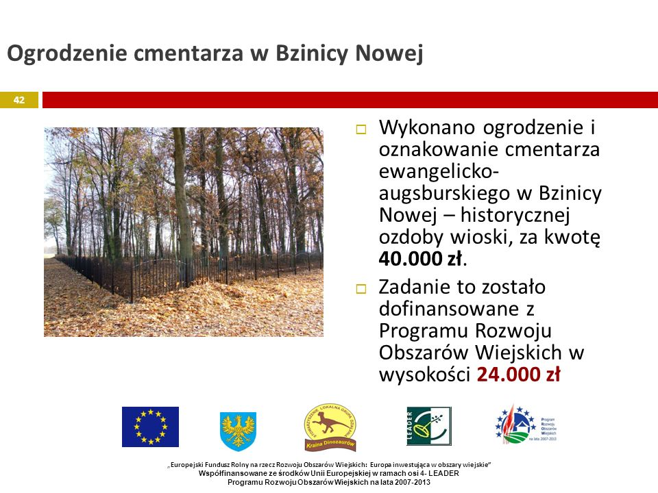 Ogrodzenie cmentarza w Bzinicy Nowej