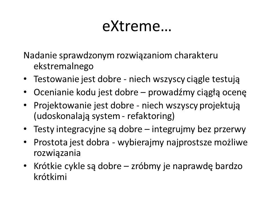 eXtreme… Nadanie sprawdzonym rozwiązaniom charakteru ekstremalnego