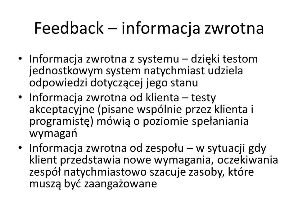 Feedback – informacja zwrotna