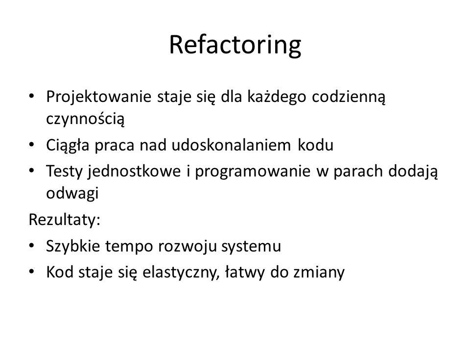 Refactoring Projektowanie staje się dla każdego codzienną czynnością