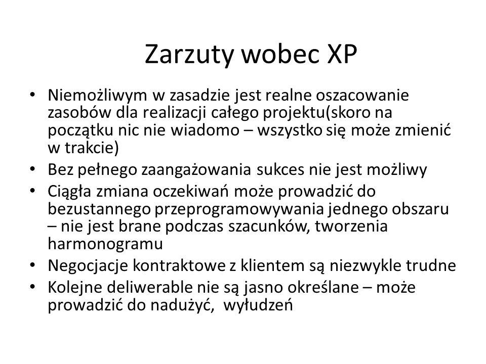 Zarzuty wobec XP