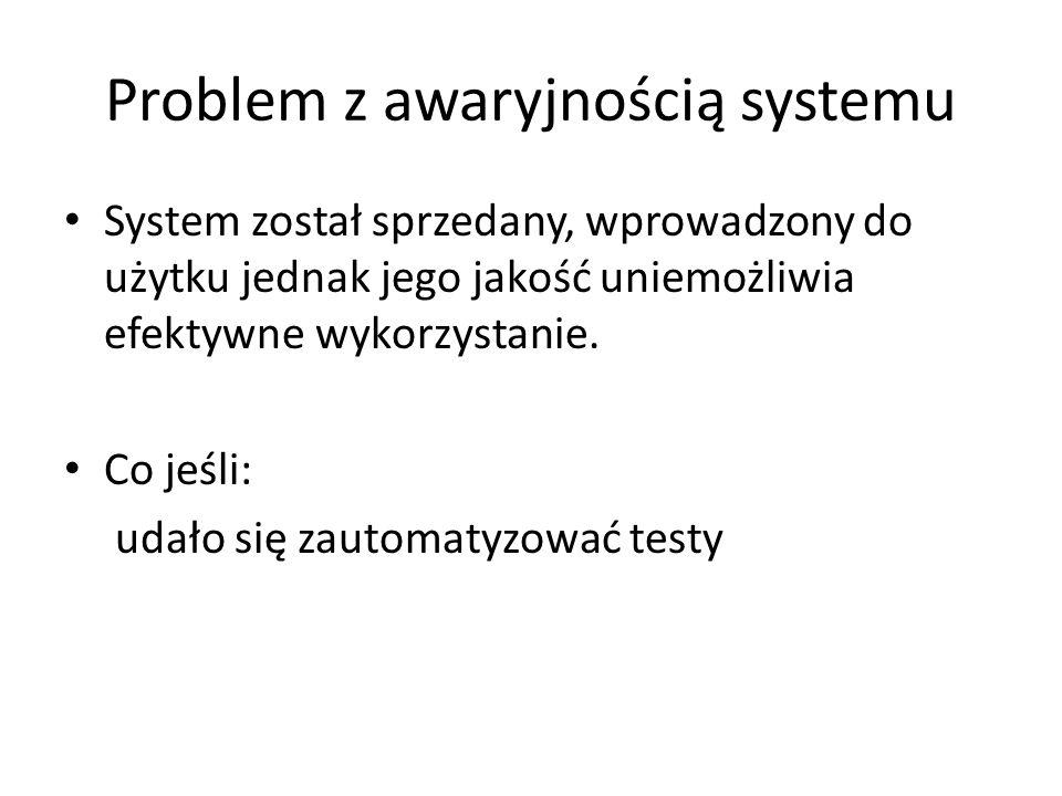 Problem z awaryjnością systemu