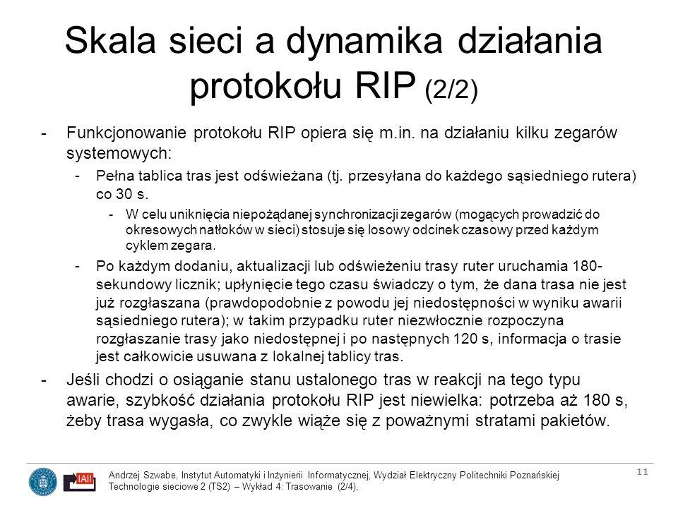 Skala sieci a dynamika działania protokołu RIP (2/2)