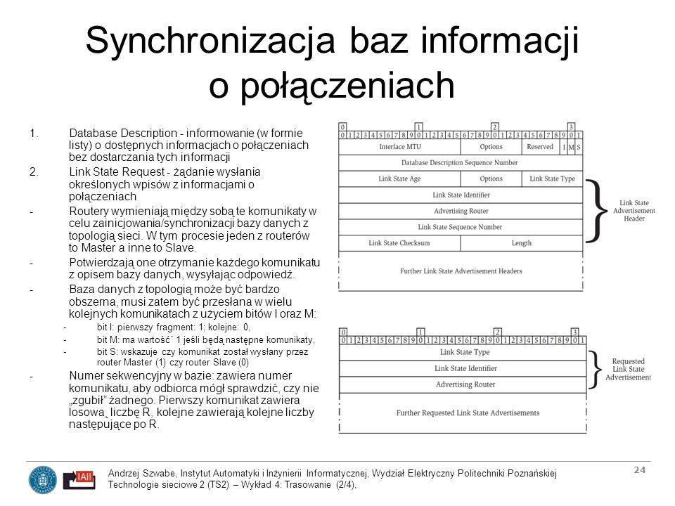 Synchronizacja baz informacji o połączeniach