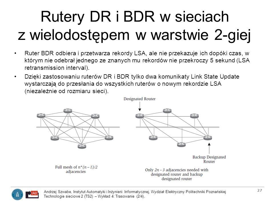 Rutery DR i BDR w sieciach z wielodostępem w warstwie 2-giej