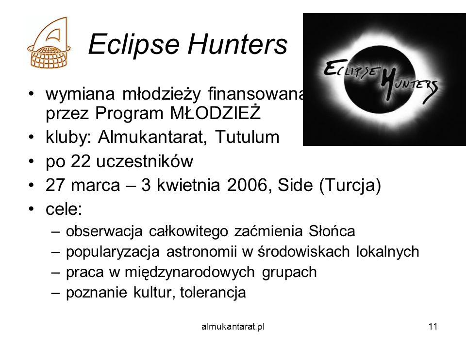 Eclipse Hunters wymiana młodzieży finansowana przez Program MŁODZIEŻ