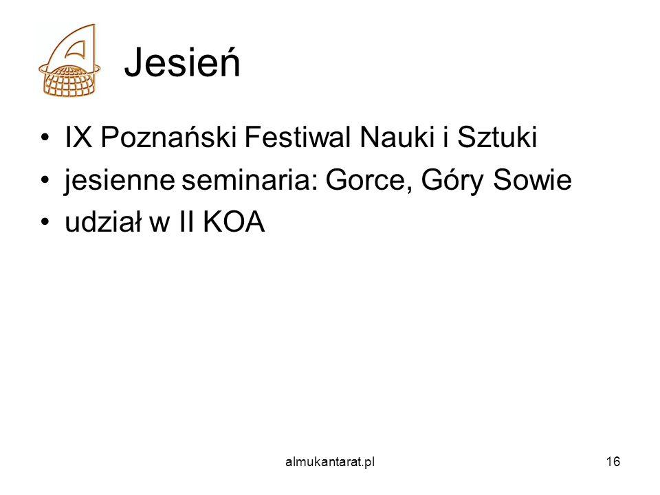 Jesień IX Poznański Festiwal Nauki i Sztuki