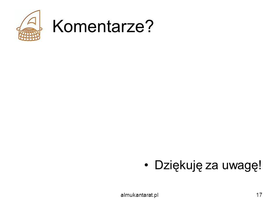 Komentarze Dziękuję za uwagę! almukantarat.pl