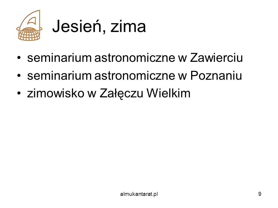 Jesień, zima seminarium astronomiczne w Zawierciu