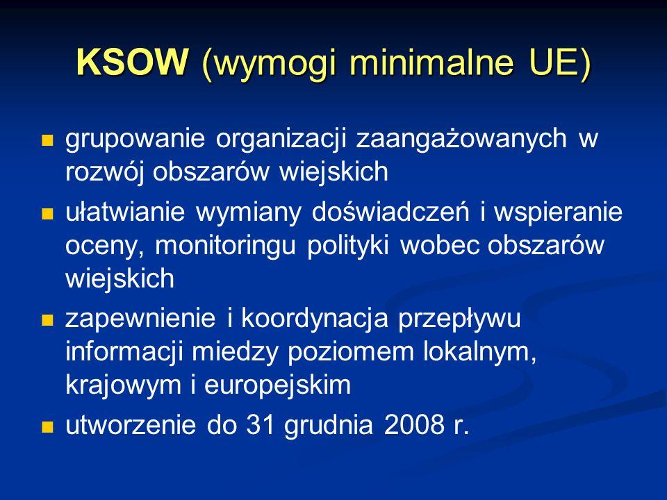 KSOW (wymogi minimalne UE)