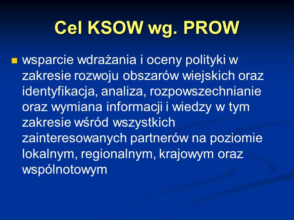 Cel KSOW wg. PROW