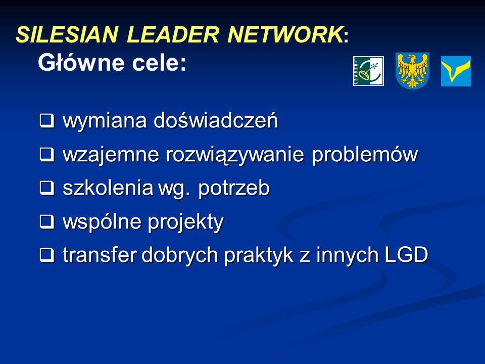 Główne cele: SILESIAN LEADER NETWORK: wymiana doświadczeń