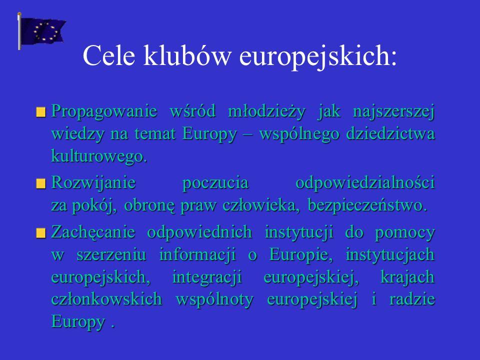 Cele klubów europejskich: