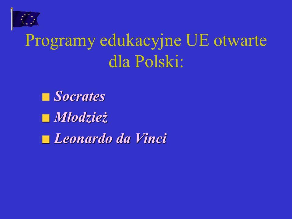 Programy edukacyjne UE otwarte dla Polski: