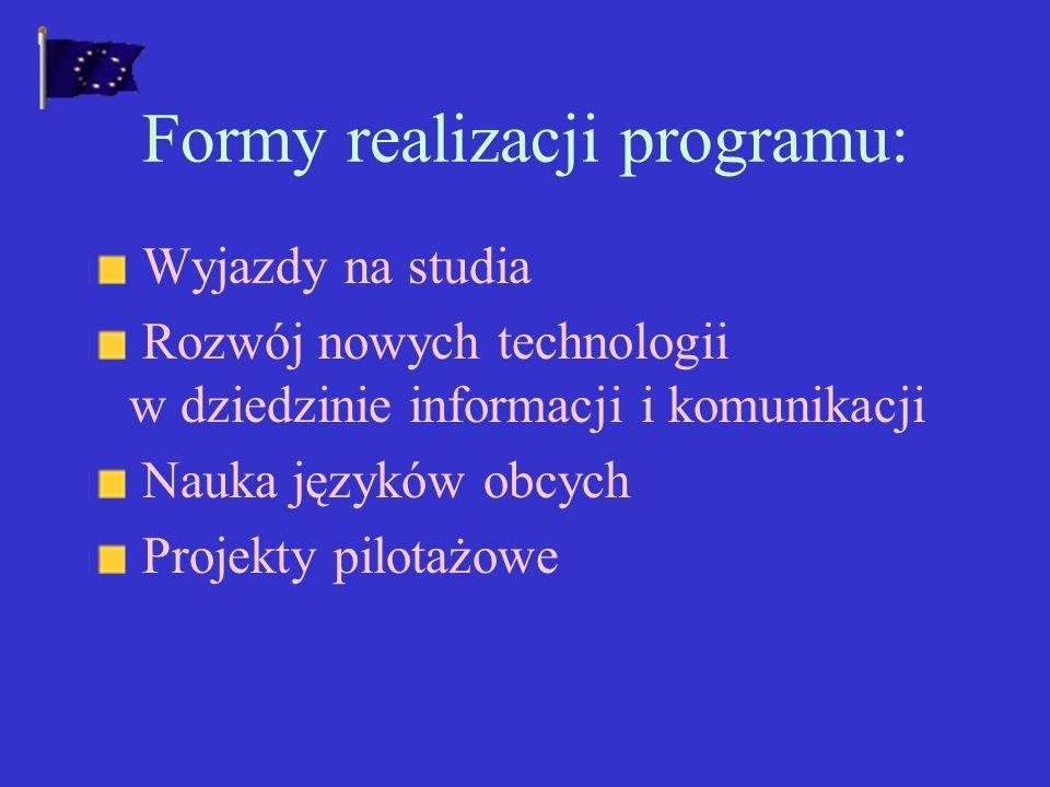 Formy realizacji programu: