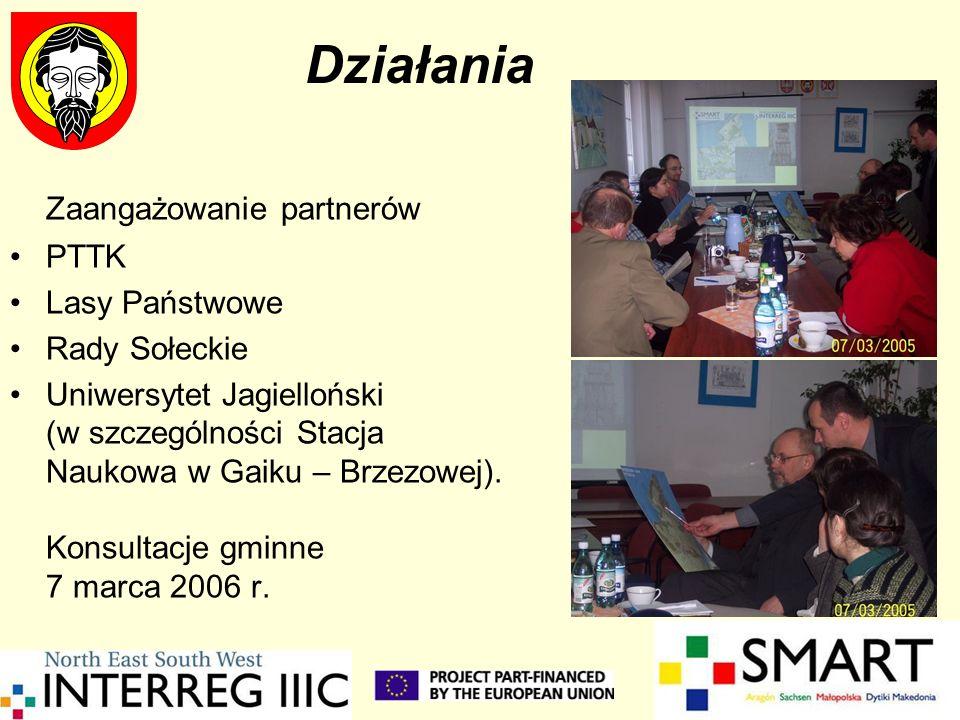 Działania Zaangażowanie partnerów PTTK Lasy Państwowe Rady Sołeckie