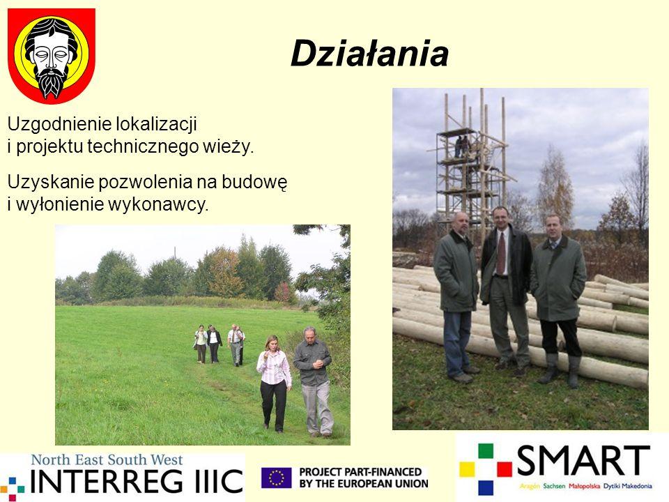 Działania Uzgodnienie lokalizacji i projektu technicznego wieży.