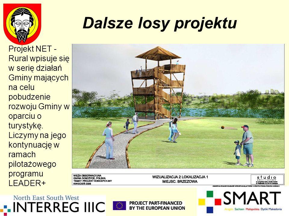 Dalsze losy projektuProjekt NET - Rural wpisuje się w serię działań Gminy mających na celu pobudzenie rozwoju Gminy w oparciu o turystykę.
