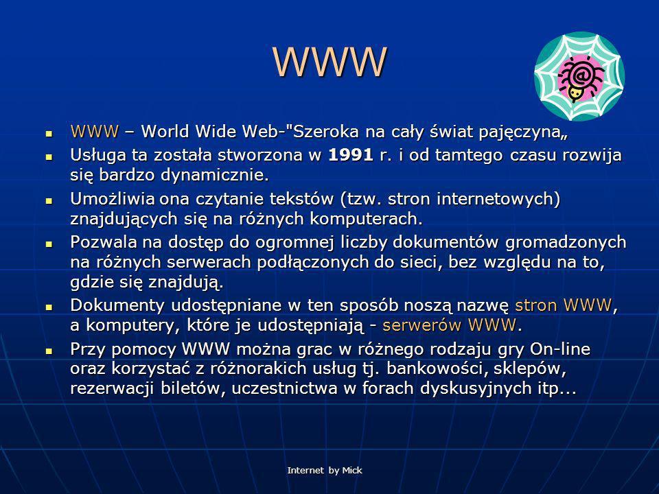"""WWW WWW – World Wide Web- Szeroka na cały świat pajęczyna"""""""