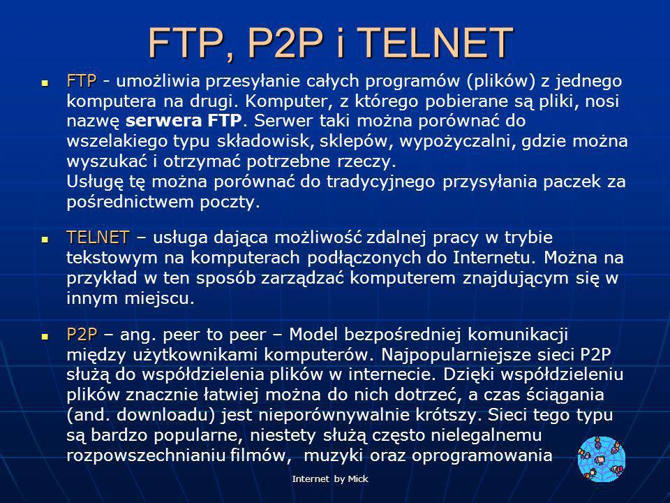 FTP, P2P i TELNET