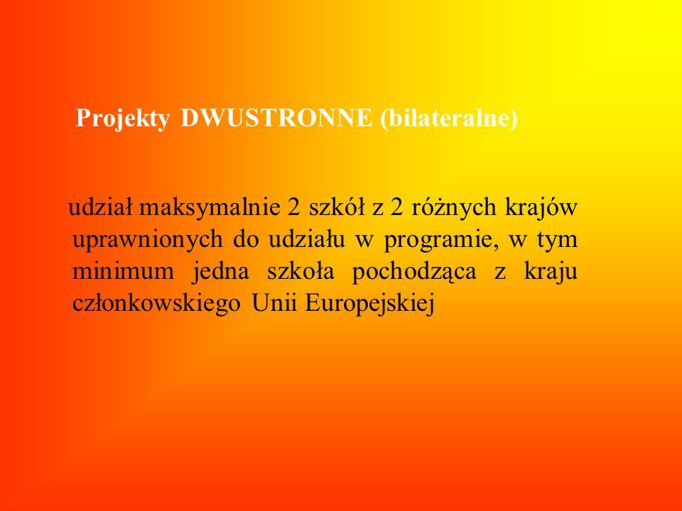 Projekty DWUSTRONNE (bilateralne)