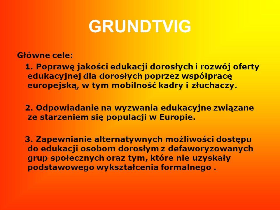 GRUNDTVIG Główne cele: