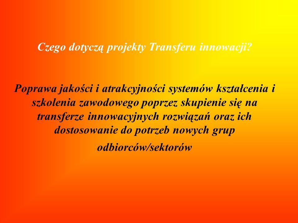 Czego dotyczą projekty Transferu innowacji