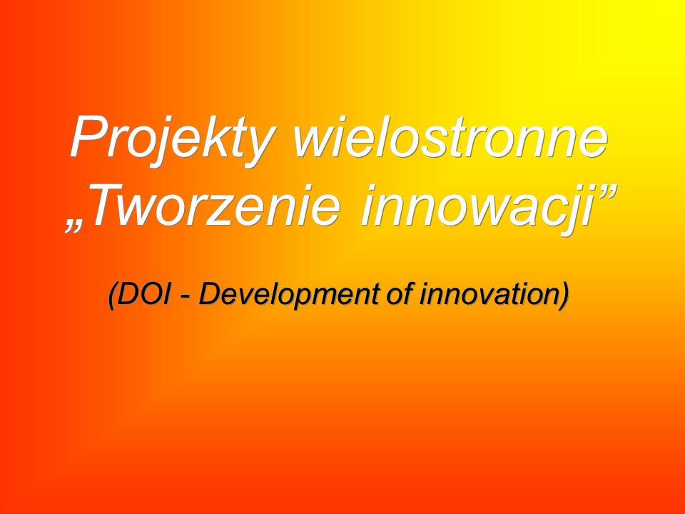 """Projekty wielostronne """"Tworzenie innowacji (DOI - Development of innovation)"""
