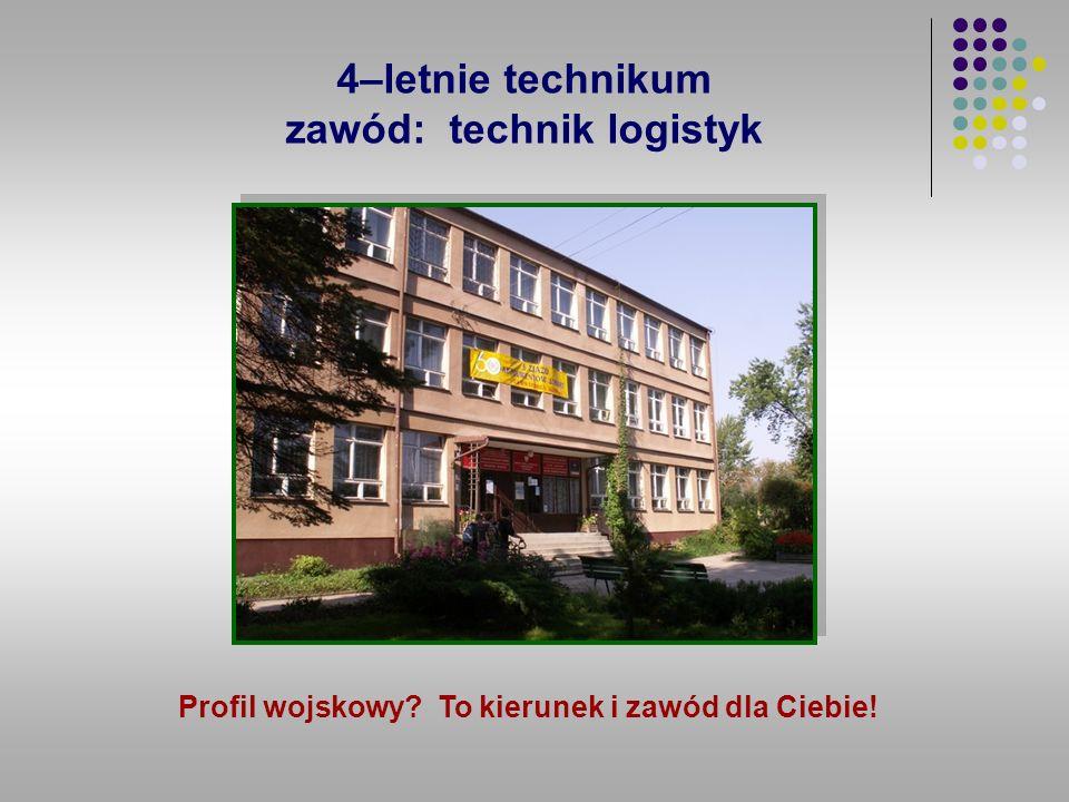 4–letnie technikum zawód: technik logistyk