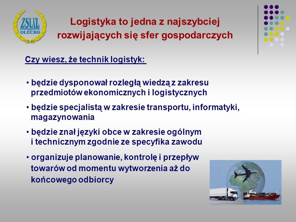 Logistyka to jedna z najszybciej rozwijających się sfer gospodarczych