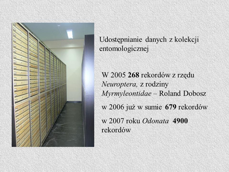Udostępnianie danych z kolekcji entomologicznej