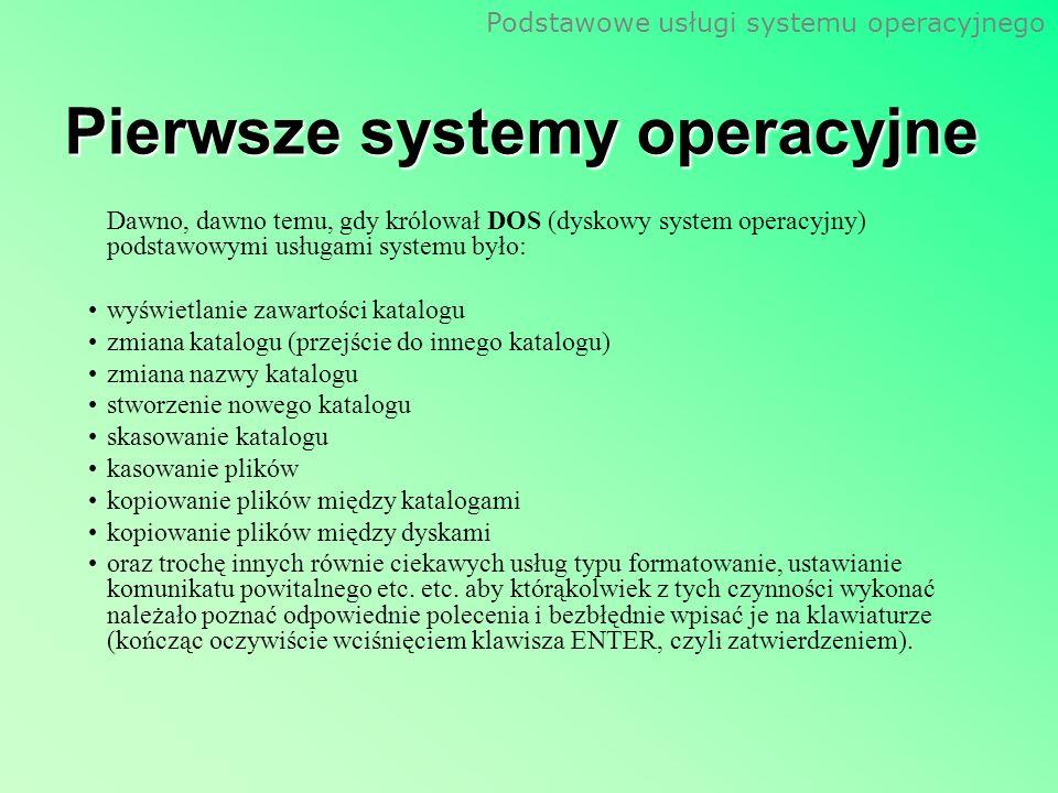 Pierwsze systemy operacyjne
