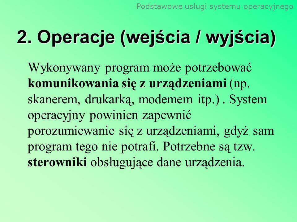 2. Operacje (wejścia / wyjścia)