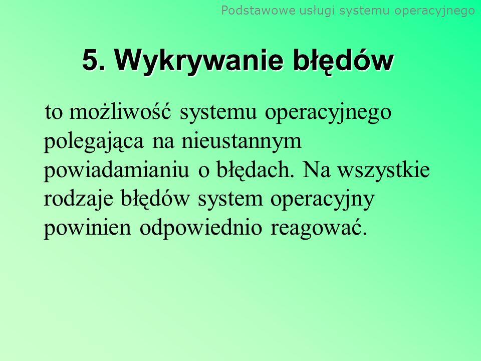 5. Wykrywanie błędów