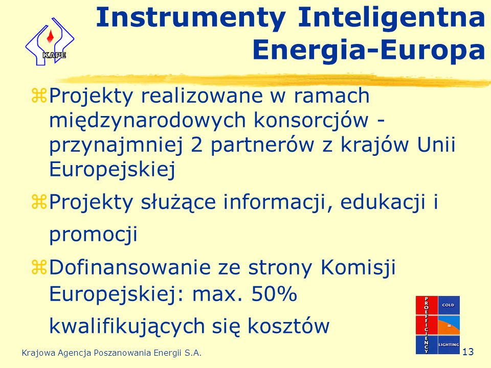 Instrumenty Inteligentna Energia-Europa