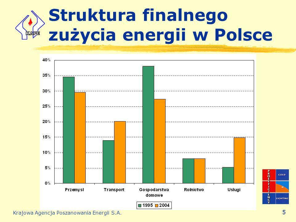 Struktura finalnego zużycia energii w Polsce