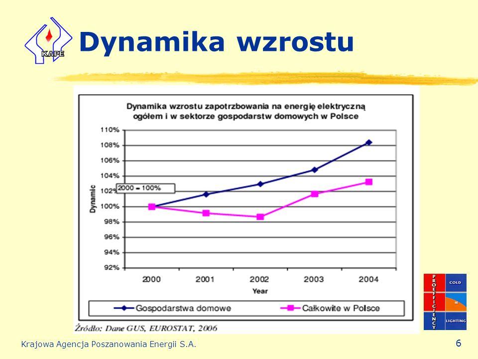 Dynamika wzrostu Krajowa Agencja Poszanowania Energii S.A.