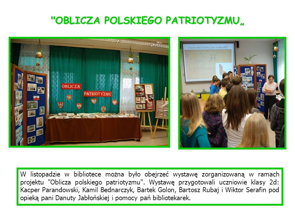 """OBLICZA POLSKIEGO PATRIOTYZMU"""""""