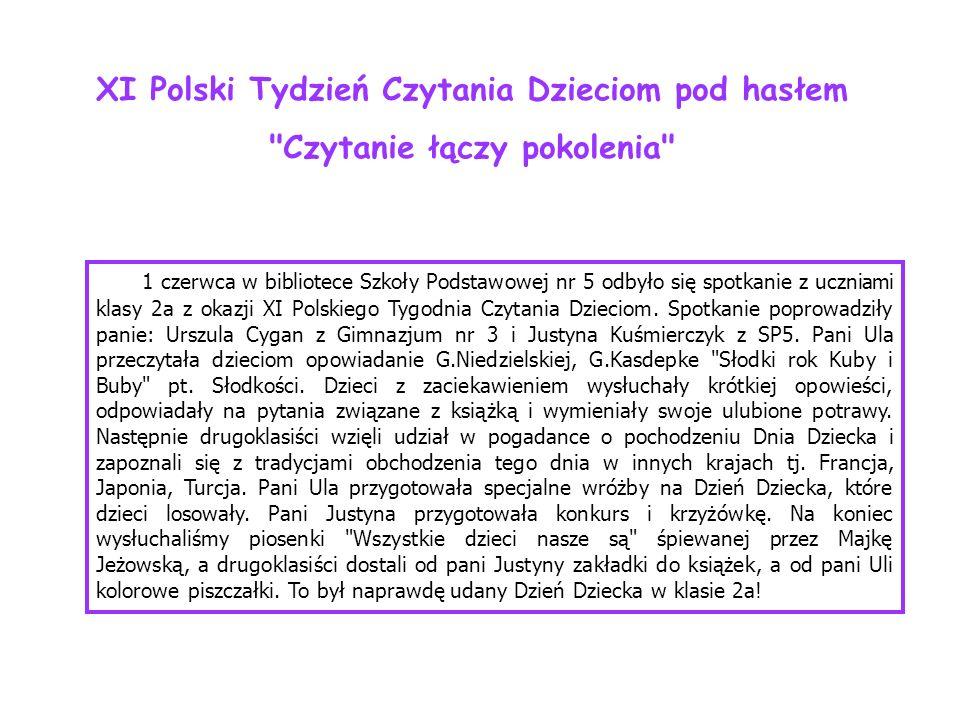 XI Polski Tydzień Czytania Dzieciom pod hasłem