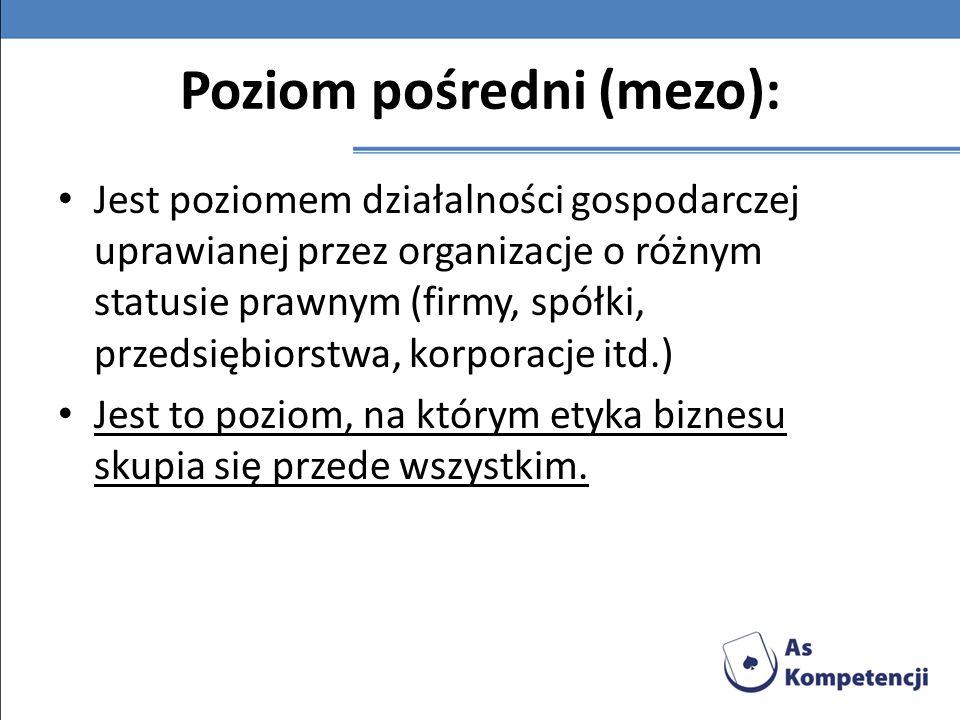 Poziom pośredni (mezo):