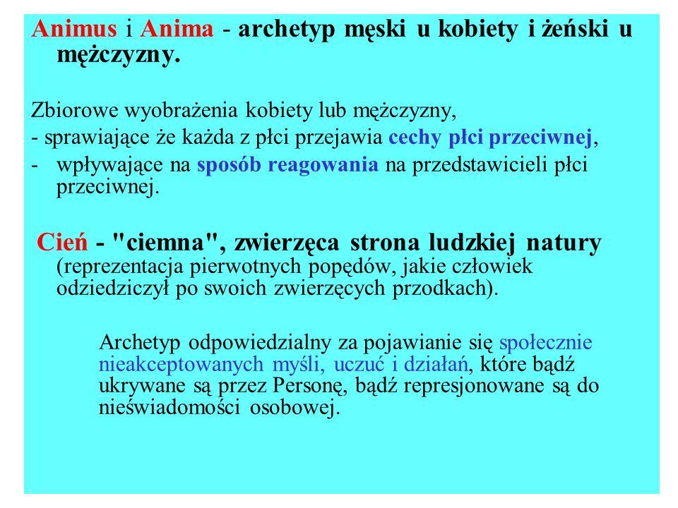 Animus i Anima - archetyp męski u kobiety i żeński u mężczyzny.