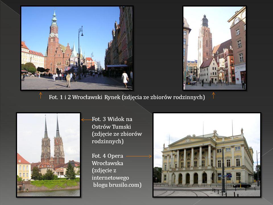Fot. 1 i 2 Wrocławski Rynek (zdjęcia ze zbiorów rodzinnych)