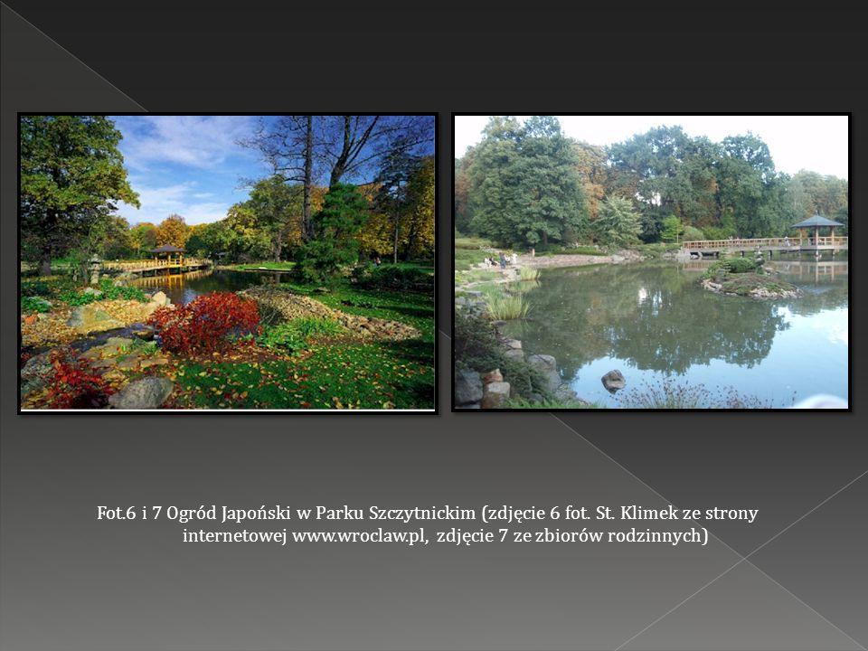 Fot.6 i 7 Ogród Japoński w Parku Szczytnickim (zdjęcie 6 fot.