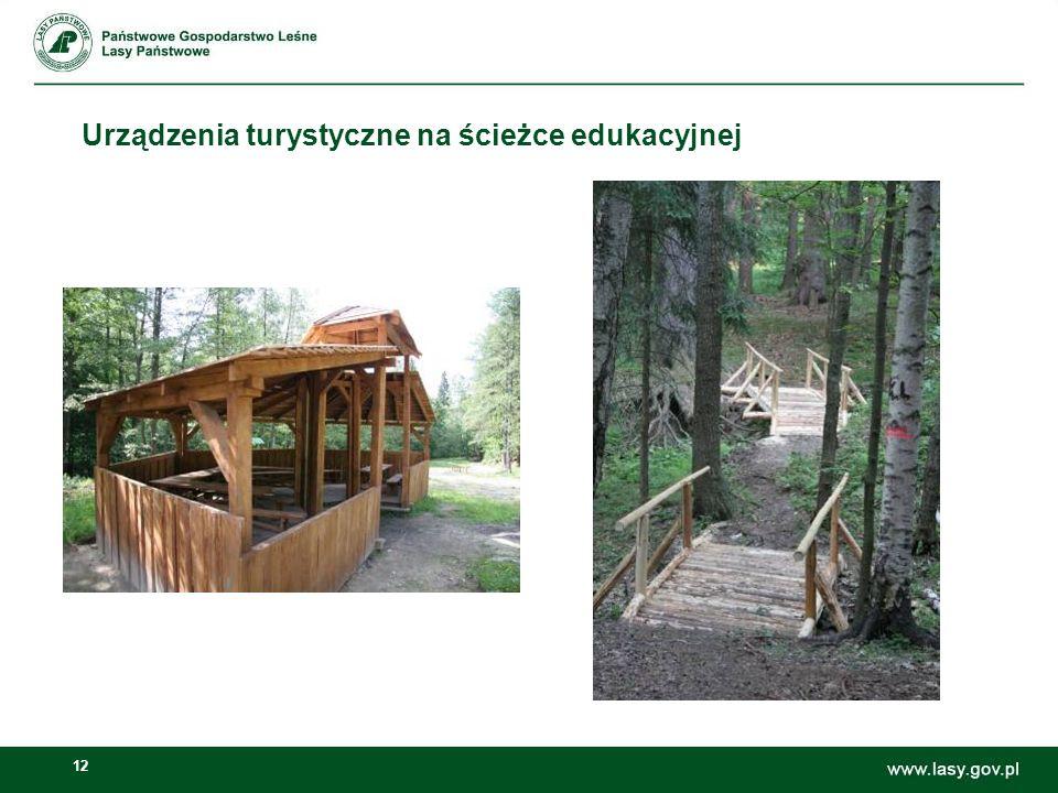 Urządzenia turystyczne na ścieżce edukacyjnej