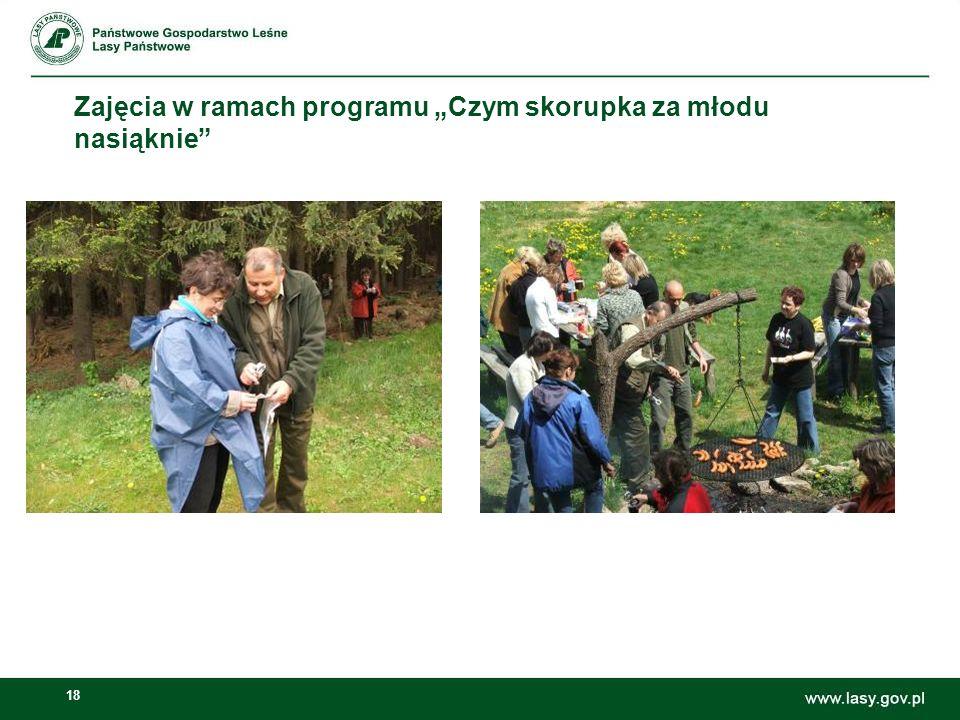 """Zajęcia w ramach programu """"Czym skorupka za młodu nasiąknie"""