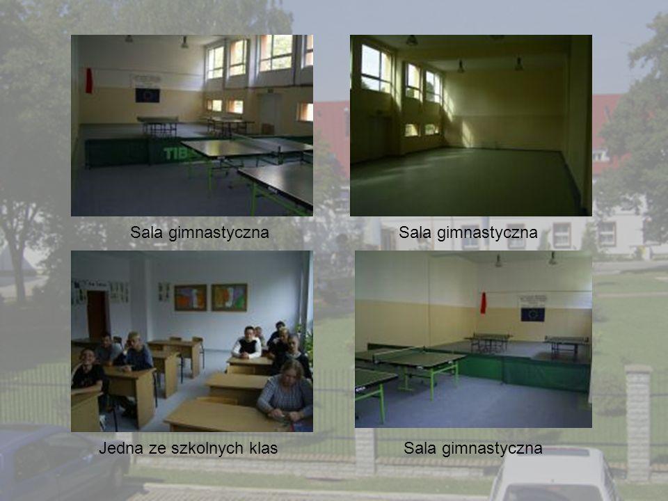 Sala gimnastyczna Sala gimnastyczna Jedna ze szkolnych klas Sala gimnastyczna